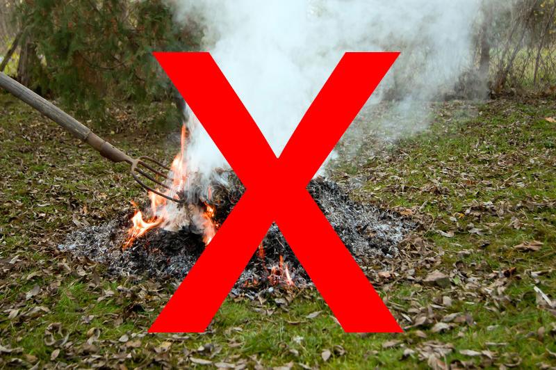 Tilos a kerti hulladék égetése