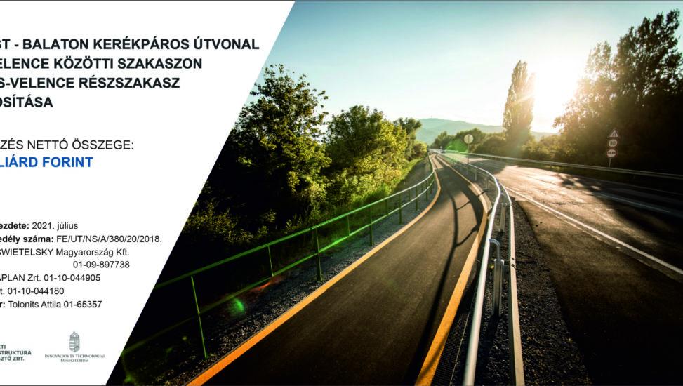 Tordas-Velence részszakasz tájékoztatója – Budapest-Balaton kerékpárút